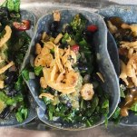 Collard Green Tacos with Roasted Shallots